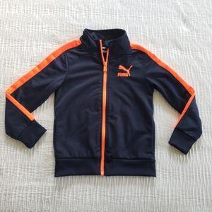 Puma Jacket Size 5 Toddler Boys Full Zip Front Coa